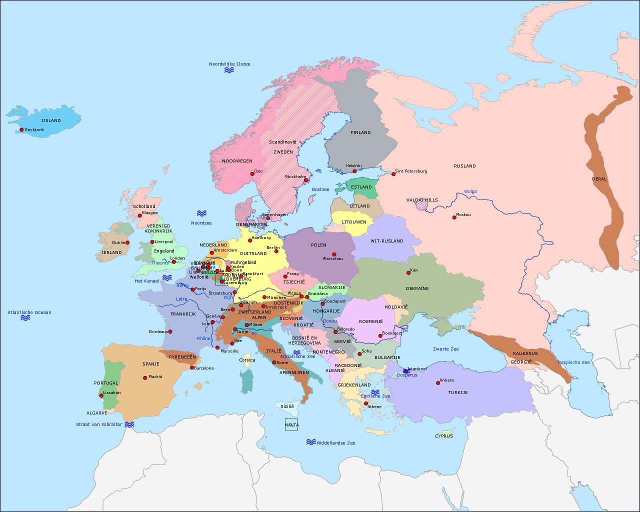 basiskaart-europa