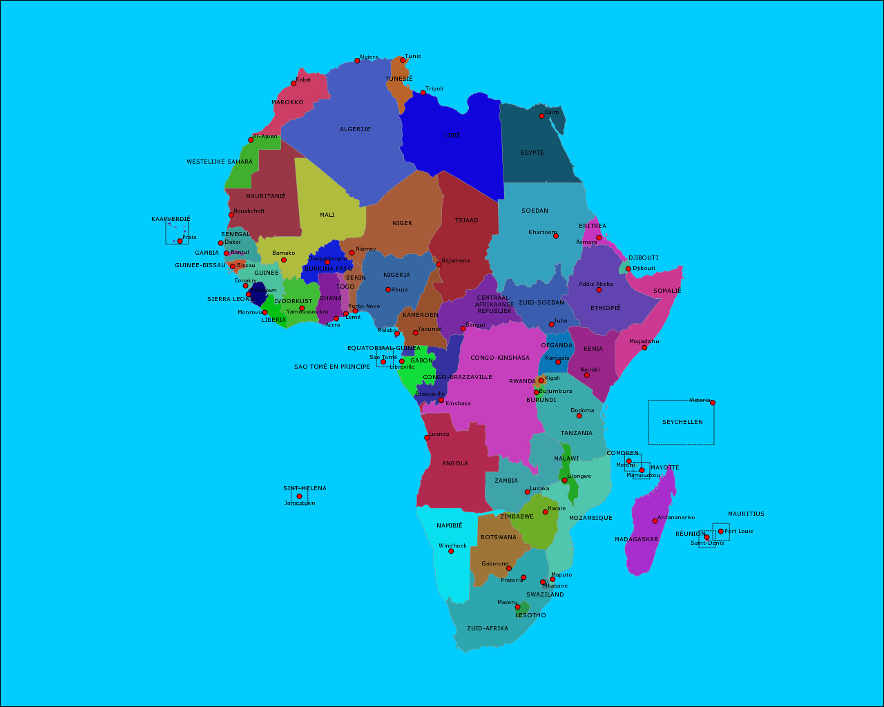 landen-en-hoofdsteden-afrika