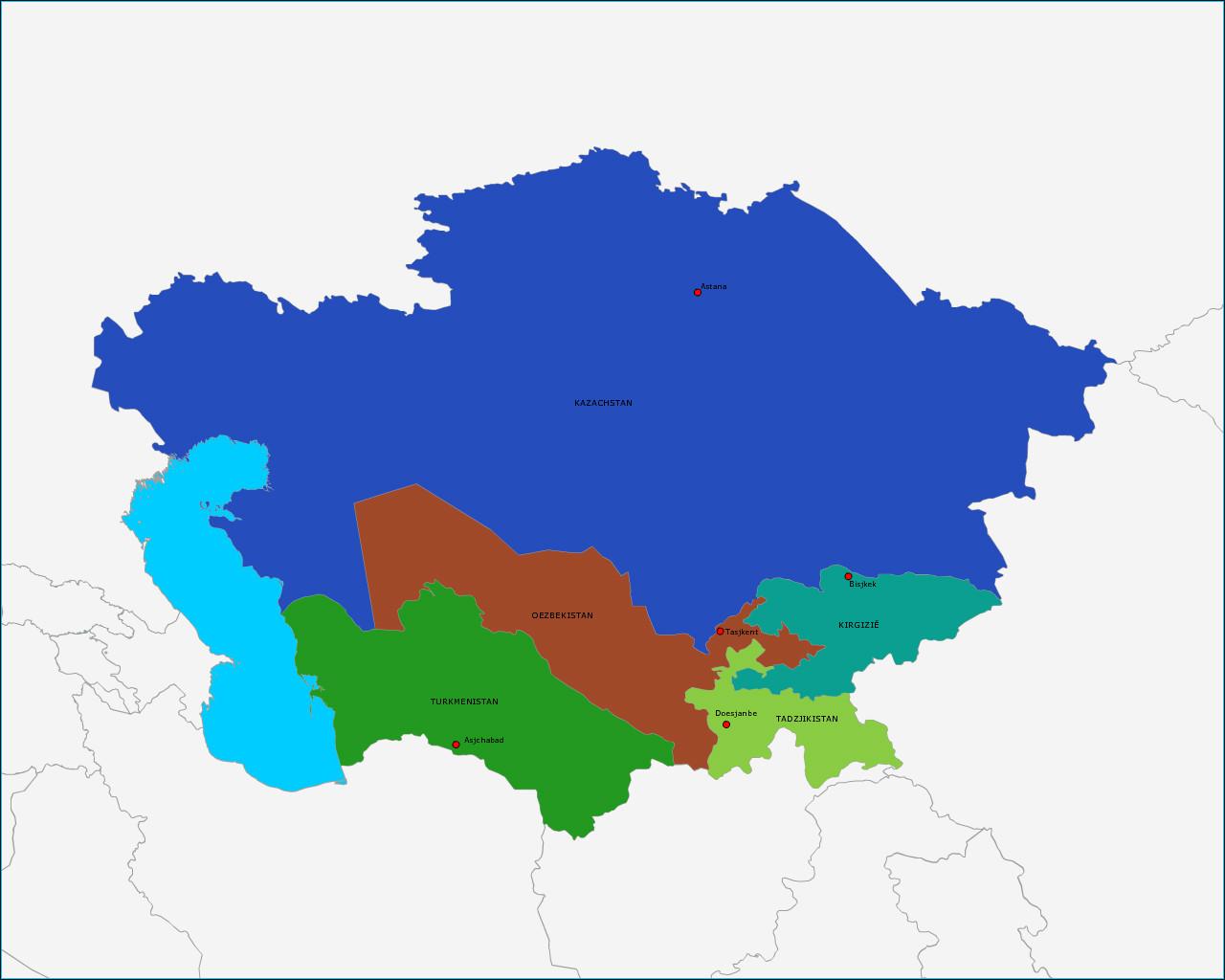 landen-en-hoofdsteden-van-centraal-azie