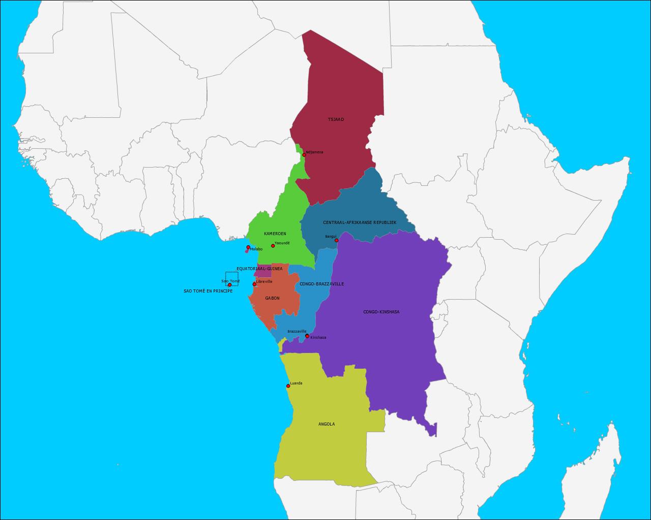landen-en-hoofdsteden-van-midden-afrika