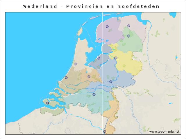 nederland-provincien-en-hoofdsteden