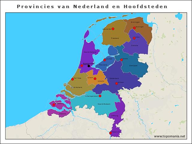provincies-van-nederland-en-hoofdsteden