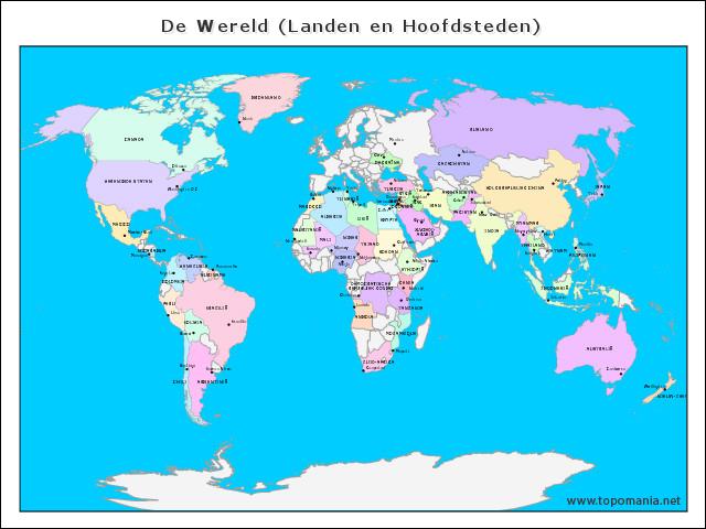 de-wereld-(landen-en-hoofdsteden)