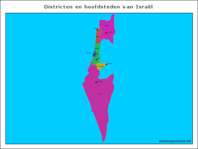 districten-en-hoofdsteden-van-israel