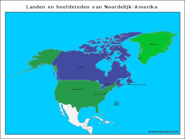 landen-en-hoofdsteden-van-noordelijk-amerika