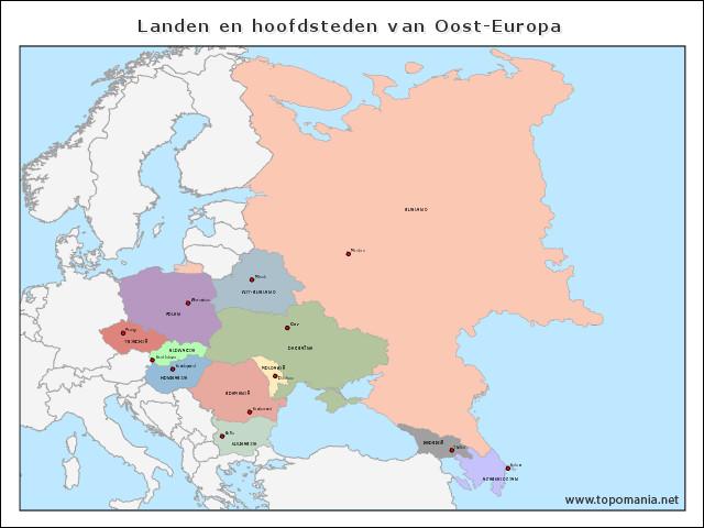 landen-en-hoofdsteden-van-oost-europa