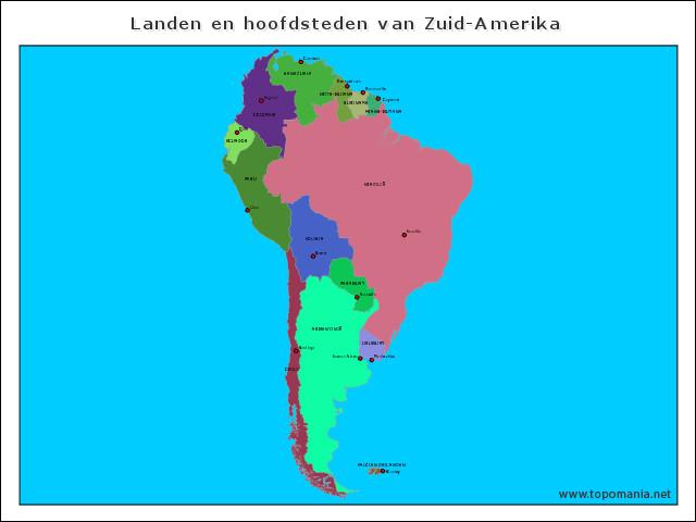 landen-en-hoofdsteden-van-zuid-amerika