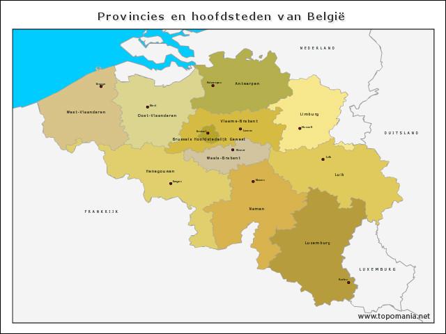 provincies-en-hoofdsteden-van-belgie