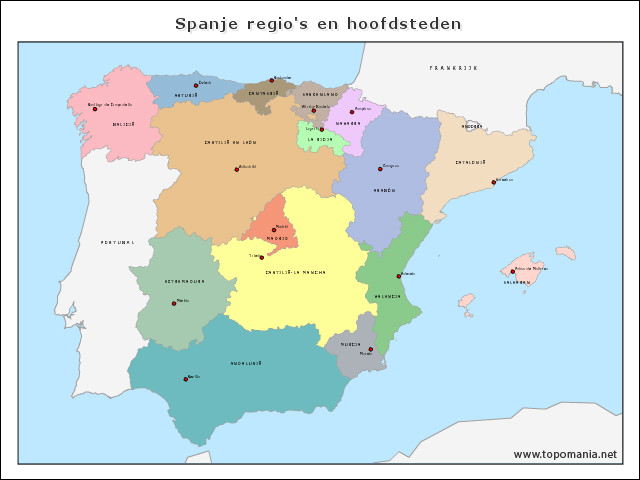 spanje-regios-en-hoofdsteden