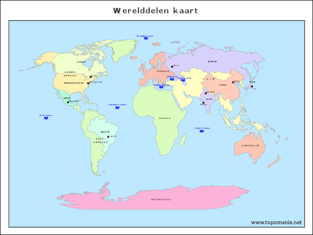 werelddelen-kaart